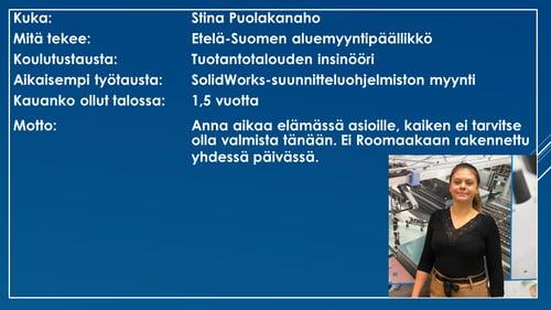 Faktalaatikko - Stina Puolakanaho