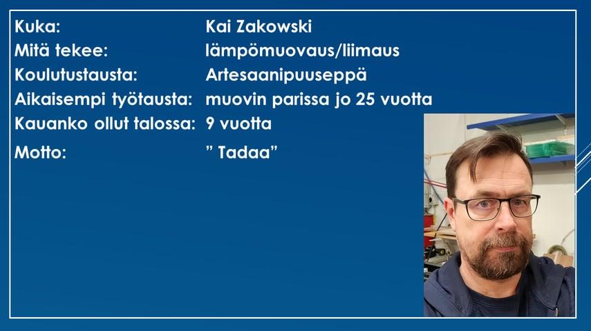 Faktalaatikko - Kai Zakowski