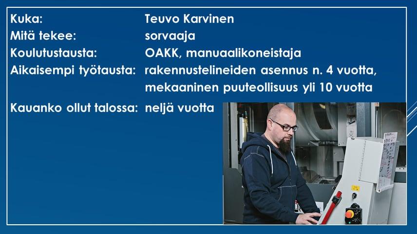 Faktalaatikko - Teuvo Karvinen