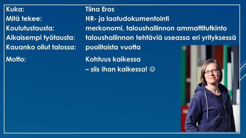 Faktalaatikko - Tiina Eros