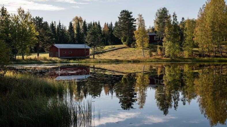 kesä-järvi-punainen-mökki