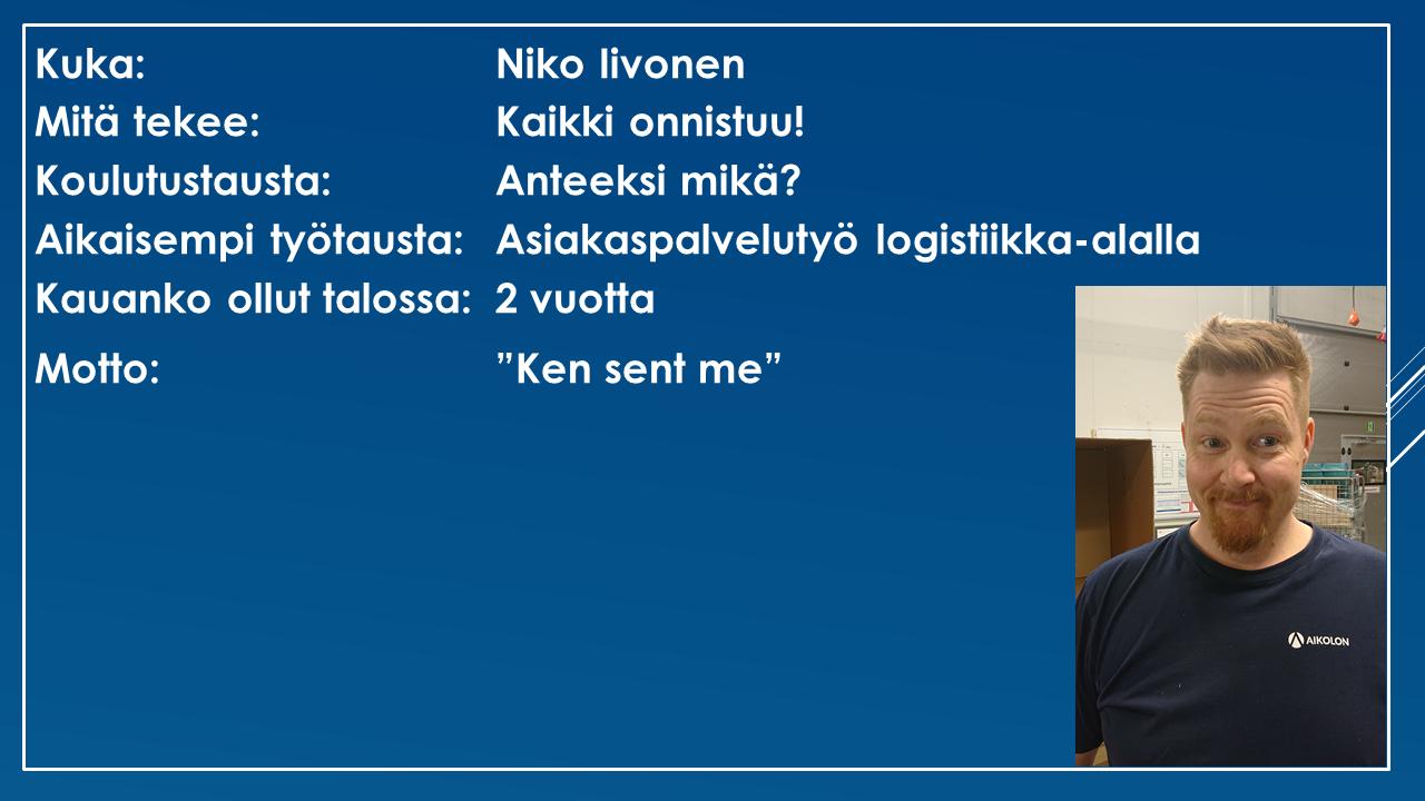 Faktalaatikko - Niko Iivonen